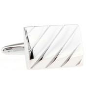 Silver Detail Rectangle Cufflinks (V-CF-M70787S)