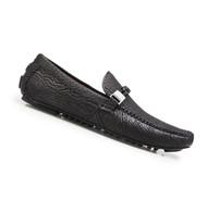 Belvedere Genuine Shark Skin Driver Shoe - Black