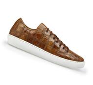 Belvedere Genuine Patch Design Crocodile Sneaker - Honey