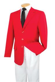 Lucci 3-Button Royal Red Blazer