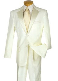 Lucci Classic Ivory 2-Button Tuxedo - Pleated Slacks