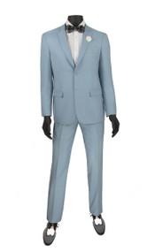 Vinci 2-Button Modern Pale Blue Suit - Ultra Slim Fit