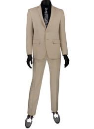 Vinci 2-Button Modern Beige Suit - Ultra Slim Fit