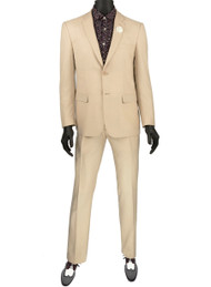 Vinci 2-Button Modern Champagne Beige Suit - Ultra Slim Fit