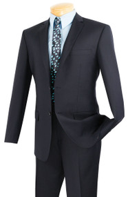 Vinci 2-Button Navy Classic Suit - Slim Fit