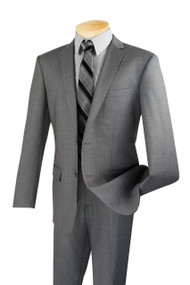 Vinci 2-Button Grey Classic Suit - Slim Fit