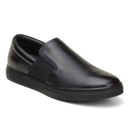 Belvedere Calf Leather Slip-On Casual Shoe - Black