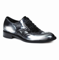 Mauri Genuine Crocodile and Grey Patent Leather Italian Dress Shoe