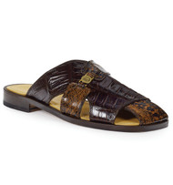 Mauri Genuine Crocodile and Shark Brown Sandal