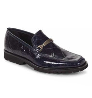Mauri Genuine Blue Alligator Loafer with Tread Sole
