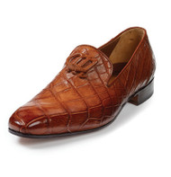 Mauri Genuine Hand Painted Alligator Slip-on Italian Dress Shoe