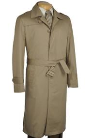 Fortini Classic Long Trench Coat - Khaki