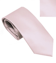 Antonia 100% Silk Narrow Tie w/Matching Pocket Square - Dusty Pink