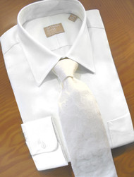 Gitman Bros. 80's 2-Ply Pinpoint Oxford Cotton White Dress Shirt