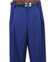 Veronesi 100% Wool Wide-Legged Slacks - Royal Blue