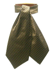 Antonio Ricci 100% Silk Ascot - Gold Dash Design