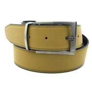 Golden Camel Reversible 35mm Leather Belt - Reverse side Black
