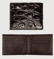 Zelli Genuine Crocodile Bi-Fold Wallet