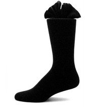 Antonio Ricci Premium Cotton Mid-Calf Dress Socks - Black