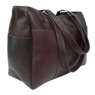 Piel Large Leather Shopping Satchel Bag