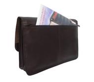 Piel Leather Executive Tri-Section Flap Portfolio