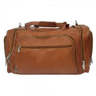 Piel Leather Multi-Compartment Duffel Bag