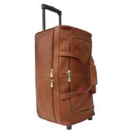 Piel Large Leather Duffel Bag on Wheels