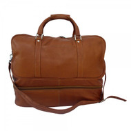 Piel Leather Large Zipper Bottom Carry-On Bag