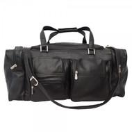 "Piel X-Large 24"" Travel Duffel Leather Bag"