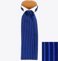 Formal 100% Woven Silk Ascot - Blue and Royal Tones