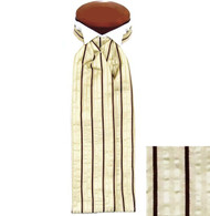 Formal 100% Woven Silk Ascot - Cream and Brown