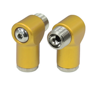 Aluminum Air Fittings Semi-Gloss Gold