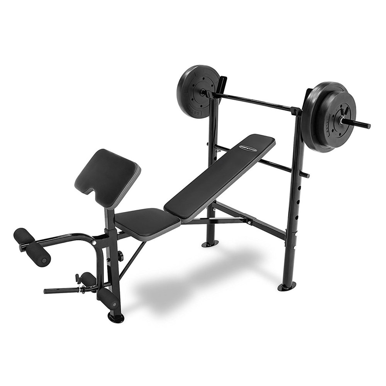 the combo bench with 80 lbs weight set cb20110 by competitor is a complete