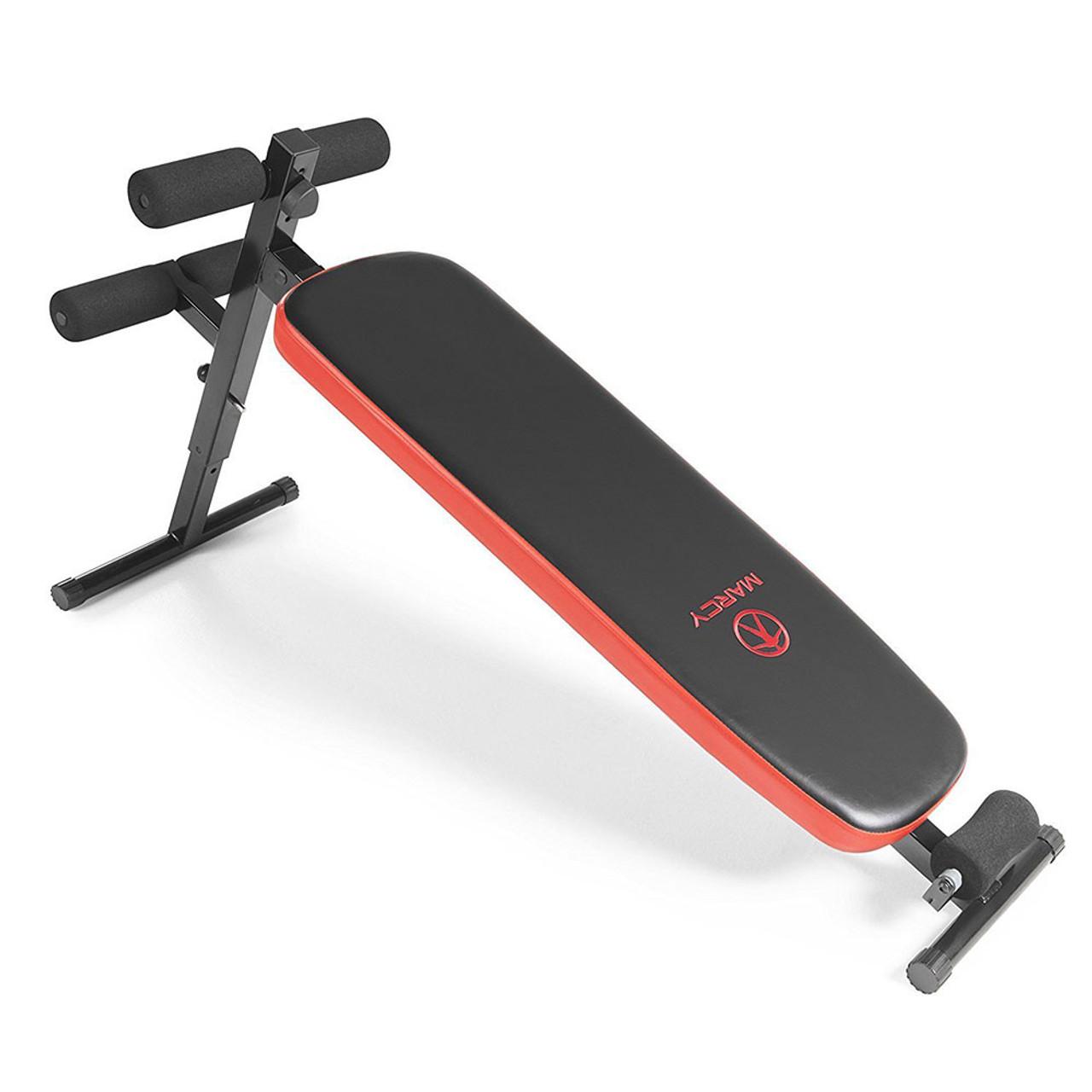Marcy Folding Utility Bench W Headrest Slant Board Sb 4606 Quality Strength Products