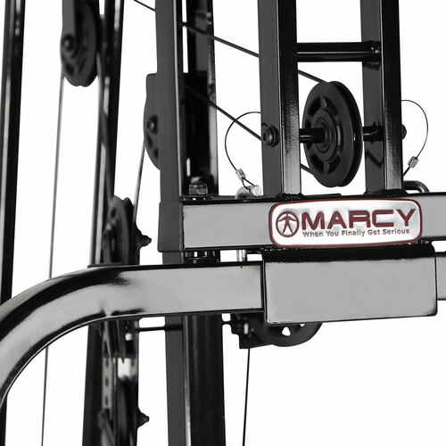 The Marcy 100 lb Stack Home Gym MKM-81030 has a strong cable pulley system