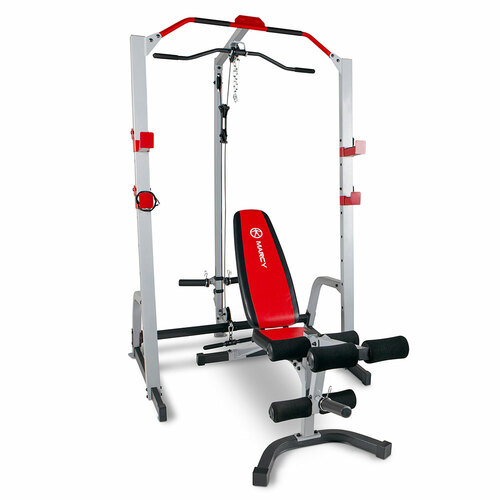 The Marcy Deluxe Smith Cage System with Bench MD-8851R is essential for creating the best home gym