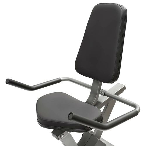 The Recumbent Bike NS-40502R by Marcy has thick padding for extended riding workouts