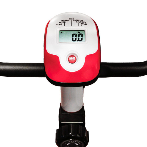 The Marcy Upright Exercise Bike NS-908U has a display screen to easily monitor your progress