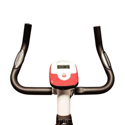 The Marcy Upright Exercise Bike NS-908U has ergonomic handles for comfort