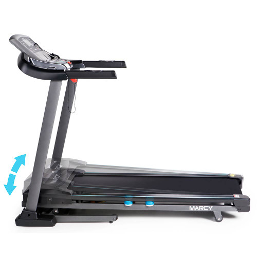 The Marcy Motorized Treadmill With Auto Incline JX-663SW automatically inclines and declines for a varied workout