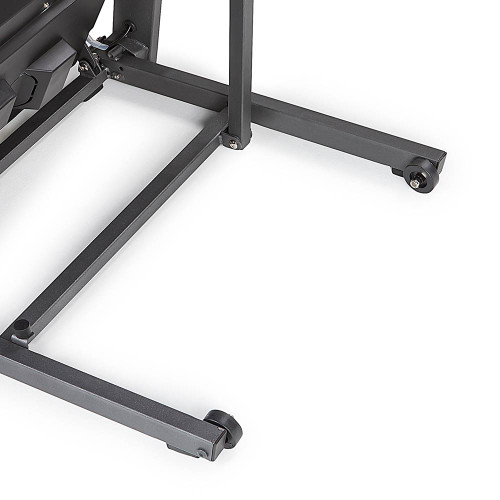 The Marcy Motorized Folding Treadmill JX-650W has wheels to make the treadmill easy to move