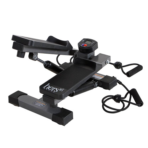 The Mini Stepper with Bands Hers MS-68 delivers a convenient and easy workout anywhere