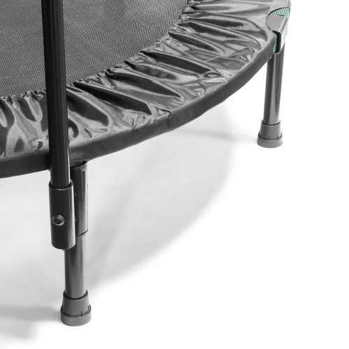 The Cardio Trampoline Trainer ASG-40 by has heavy duty legs with rubber covers to protect the floor