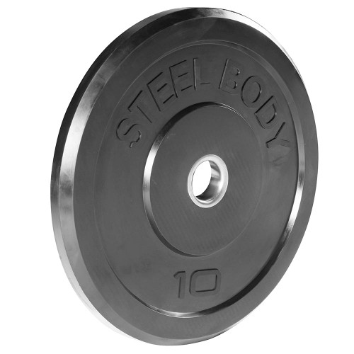 10 lbs. Olympic Bumper Plate by SteelBody to add weight to your HIIT Workout