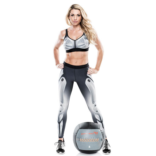 Kim Lyons withthe Bionic Body 6 lb. Medicine Ball
