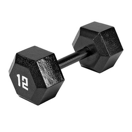 The Marcy 12 LB. ECO Hex Dumbbell IV-2012 free weight optimizes your high intensity interval body building training