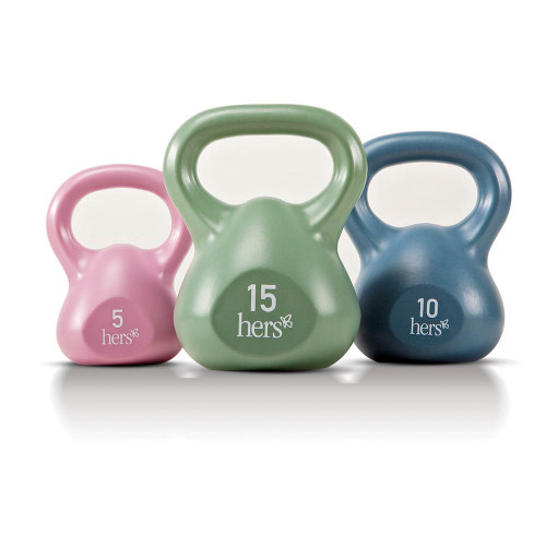 Hers 30 Lbs Kettlebell Weight Set VKBS-30 comes in different colors