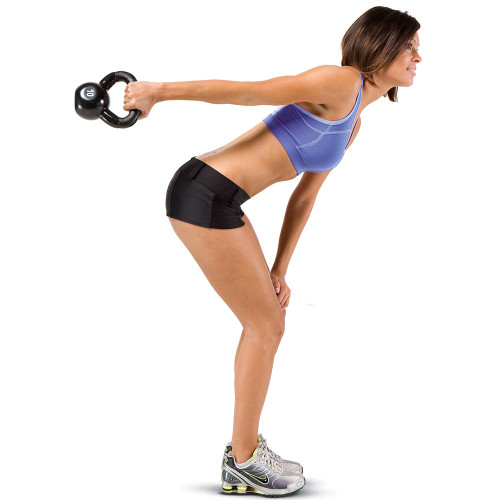 The 50 lbs Kettle Bell Set by Marcy in use - HIIT Kettle Bell swings for conditioning