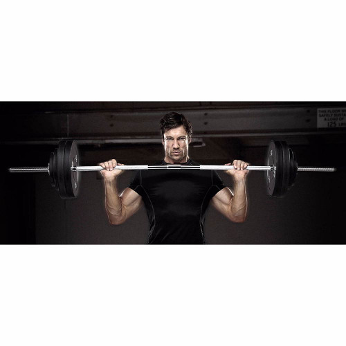 The Marcy Standard Weight Bar TRB-72.2 is the ideal portable standard bar for any home gym because of its textured grip