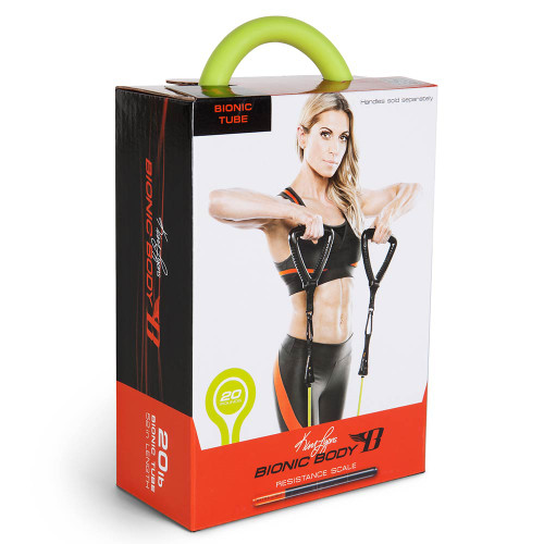 Long lasting Bionic Body 20 lb Resistance Band Inside of the package
